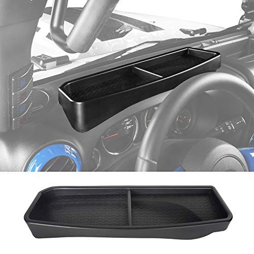 Hooke Road Dashboard Dash Phone Key Storage Box Console Tray for 2011-2018 Jeep Wrangler JK