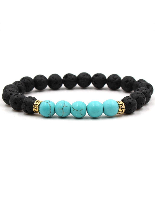 Men Women Stone Beads Stretch Strand Bracelets Healing Therapy Bracelets Strand
