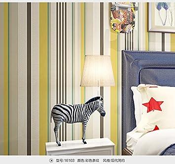 Lzhenjiang Wallpaper Non-auto-adhésifDe Couleur Jaune Et Blanc Fond ...