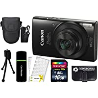 Canon PowerShot ELPH 190 IS 20.2MP 10x Zoom Wi-Fi Digital Camera (Black) + 16GB Card + Reader + Case + Accessory Bundle Advantages Review Image