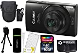 Canon PowerShot ELPH 190 IS 20.2MP 10x Zoom Wi-Fi Digital Camera (Black) + 16GB Card + Reader + Case + Accessory Bundle Review