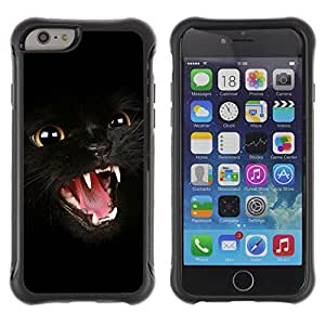 Hybrid Anti-Shock Defend Case for Apple iPhone 5s Inch / Dark Panther Cat