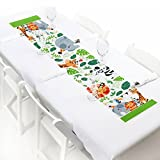 Jungle Party Animals - Petite Safari Zoo Animal Birthday Party or Baby Shower Paper Table Runner - 12'' x 60''