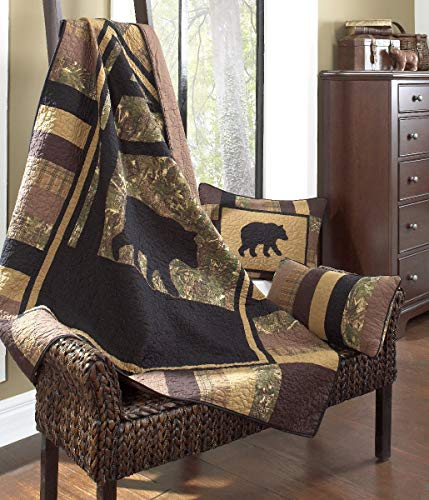 Donna Sharp Camo Bear Cotton Quilted Throw -