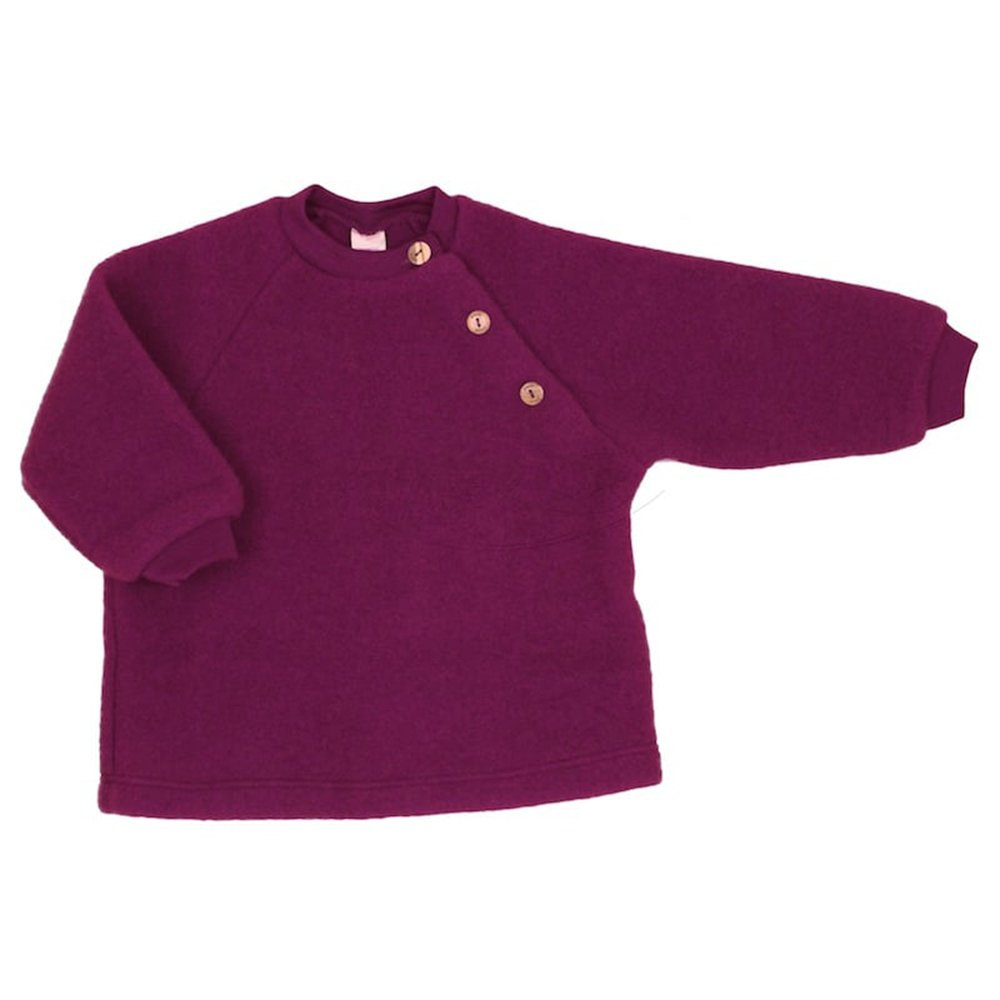 EcoAble Apparel Baby Toddler Ultra Warm Sweater, 100% Organic Merino Wool Fleece, Sizes NB-2T (62-68cm/3-6 Months, Berry Purple) by EcoAble Apparel