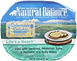 Natural Balance Pet Food Delectable Delights Life's a Beach Cat Pate Formula Sardines Whitefish Tuna and Mackerel — 2.5 oz, My Pet Supplies