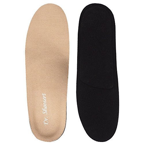 (Dr. Shoesert's Memory Foam Orthotic Insoles, Orthotic Inserts for Flat Feet, Plantar Fasciitis, Diabetic, Feet Pain, Heel Pain and Pronation for Kids, Men and Women (Men's 9-9.5/ Women's 11-11.5))