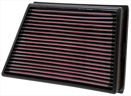 K&N engine air filter, washable and reusable:  2011-2018 Land Rover L4 (Discovery Sport, Range Rover Evoque, LR2, Freelander) 33-2991