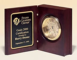 Book Clock with Free Engraving & Lifetime Warranty