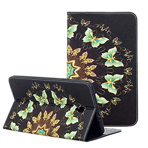 NOKEA Tablet Case for Samsung Galaxy Tab A 8.0 2017, Cute Stylish SlimLightweight Folding Premium PU Leather Folio Stand Cover Case with Card Holder for Galaxy Tab A 8.0(T380/T385) (Golden - Inch Tablet Zebra 8 Case