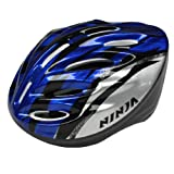 U-nique Black Blue Striped Skateboard Bike Bicycle Cycling Helmet for Adult