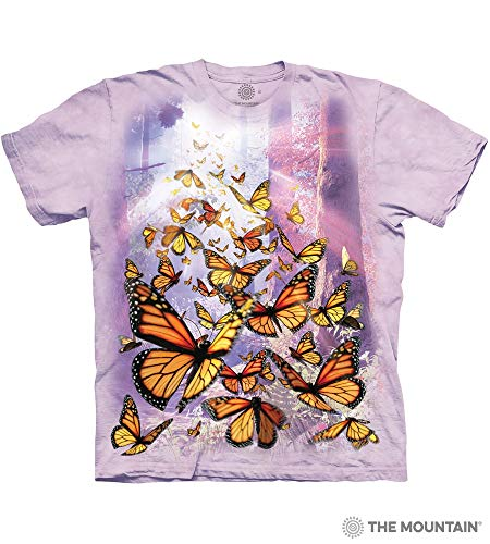 The Mountain Monarch Butterflies Adult T-Shirt, Purple, XL