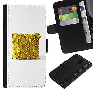 All Phone Most Case / Oferta Especial Cáscara Funda de cuero Monedero Cubierta de proteccion Caso / Wallet Case for Samsung Galaxy S5 Mini, SM-G800 // cubo de plátano