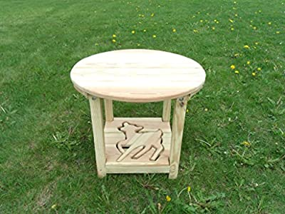 Pressure Treated Pine Designs Unfinished Doe Cut Out End Table
