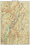 Lake George - 1904 USGS Old Topographic Map Custom Composite Reprint New York Eastern Lakes
