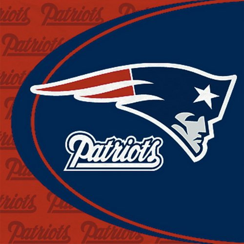 New England Patriots Luncheon Napkins - 16 - Barcelona Store Es