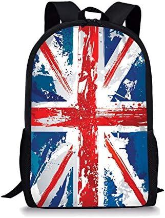 ZERODATE Unisex Girls Backpack Children's School Bag Canvas Bags US Flag Pattren Backpack School Bag for Girls Women's Rucksack Bookbag Casual Dayback Laptop Bag