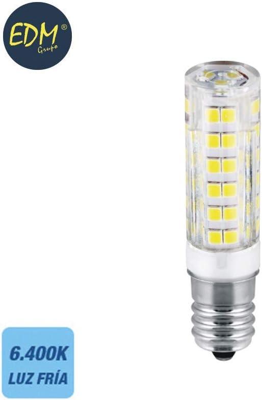 Bombilla de led tubular 4.5W E14 400lm 6400K EDM 98886