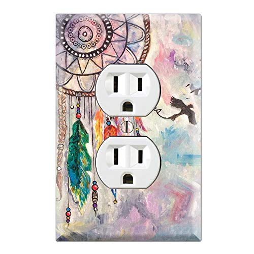 (Graphics Wallplates - Dream Catcher Canvas Painting- Duplex Outlet Wall Plate Cover)