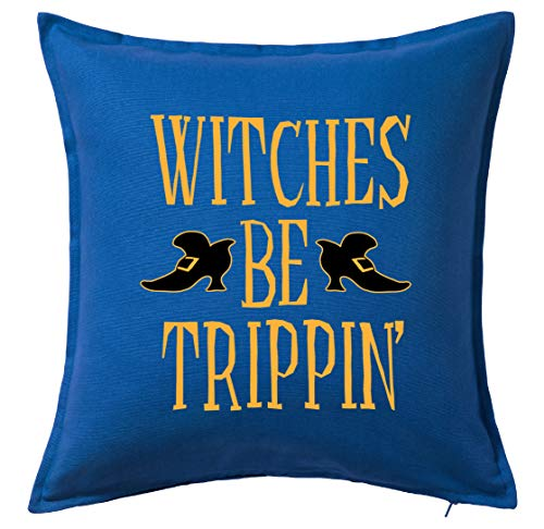 Tenacitee Witches be Trippin Blue Throw Pillow with Duck Feather Filling for $<!--$24.99-->