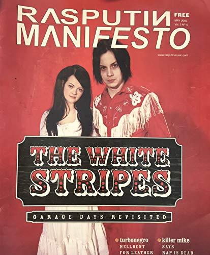 RASPUTIN MANIFESTO Vol. 3 No. 4, May 2003: The White Stripes cover