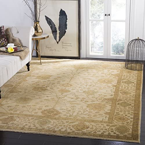 Safavieh Oushak Collection OSH145A Hand-Knotted Ivory Wool Area Rug 10 x 14
