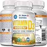 Vitamin D3 5000 IU Supplement   360 Mini Softgels   with Organic Olive Oil   Non-GMO   Gluten Free   Healthy Muscle Function   Best Immune Support   Bone Joint Health   1 Year Supply