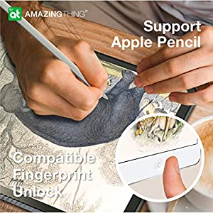 iPad 10.2 Screen Protector Paperfeel iPad 7th Generation Screen Protector, Anti Glare Scratch Resistant Anti Fingerprint, High Touch Sensitivity, Compatible with Apple Pencil, Matte PET Film (Color: new ipad 10.2 inch)
