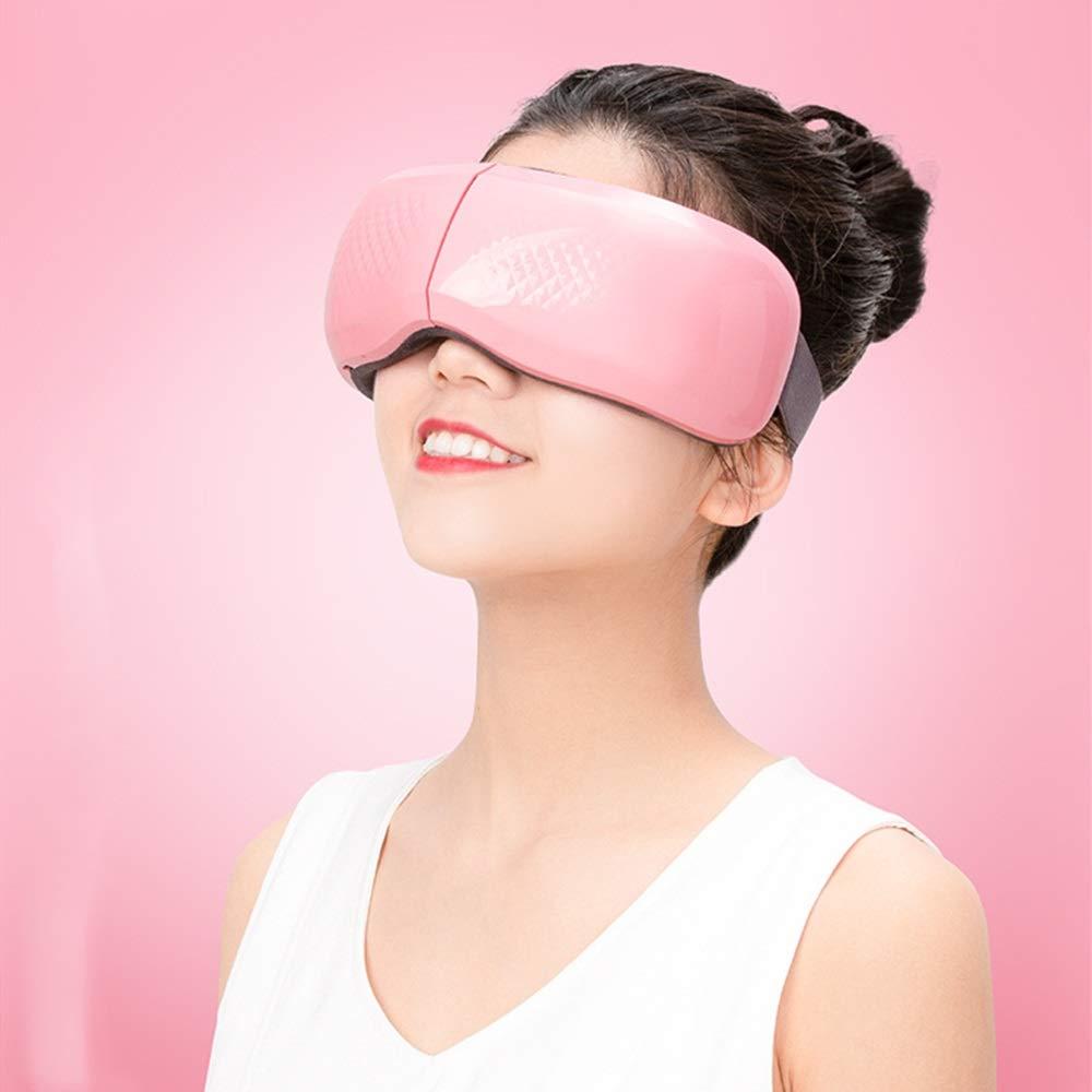 アイマッサージャー 電子アイマッサージャーマスク折りたたみ式充電式暖房用ドライアイビジョンアイダークサークルストレス解消 ストレスを解消して目をリラックス (色 : ピンク, サイズ : Free size) B07SD3Y68P ピンク Free size