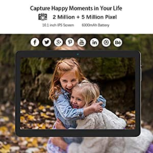 Android Tablet 10 Inch, 3G Phone Tablets with 16GB Storage Dual Sim Card Slots, 5MP Camera, WiFi, Bluetooth, Google Certified, Quad Core, HD Touchscreen (Color: Black, Tamaño: 10 inch(1GB+16GB))