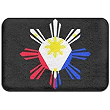 Philippine Sun Flag Non Slip Outdoor Carpet Kitchen Rug