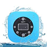 Shower Radio Bluetooth Speaker, Portable Waterproof Wireless Bluetooth Speaker with FM Radio, Built-in Mic, LED Display, Hands Free Speakerphone, Mini Bluetooth Speaker with Suction Cup HOTT