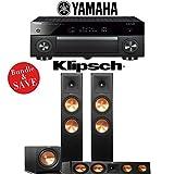 Yamaha AVENTAGE RX-A1070BL 7.2-Ch 4K Network AV Receiver + Klipsch RP-280F + Klipsch RP-450C + Klipsch R-112SW - 3.1-Ch Home Theater Package