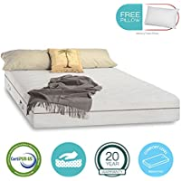 11 inch Aloe Vera Gel Memory Foam Mattress - Cool & Gel Infused - Triple-Layered - Certipur-US Certified - Medium Firm - 20-Year Warranty - with FREE PILLOW - Full Size