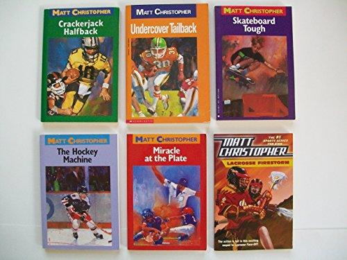 (Matt Christopher Sports (6 Set) Crackerjack Halfback; Undercover Tailback; Hockey Machine; Miracle at the Plate)