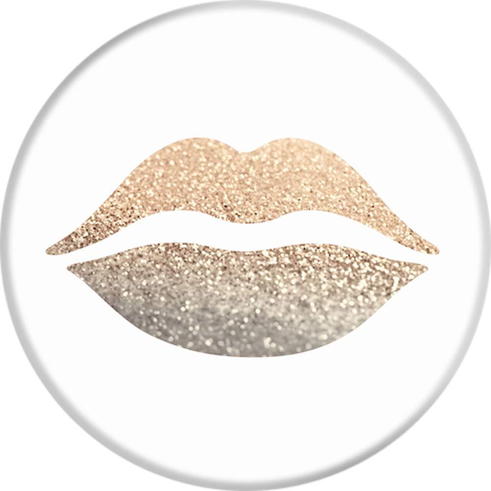 Non Sostituibili Gold Lips popsockets Supporto e Impugnatura per Smartphone e Tablet