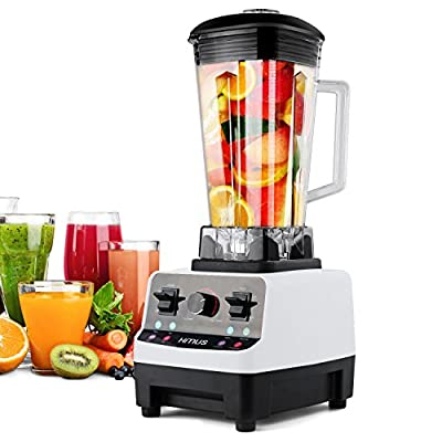 Blender HANMEIUS Multi Speed Electric Commercial Power Blender High Professional Performance Processor Mixer Nutrition Blender for Ice, Smoothies, Vegetable, Fruit ,White