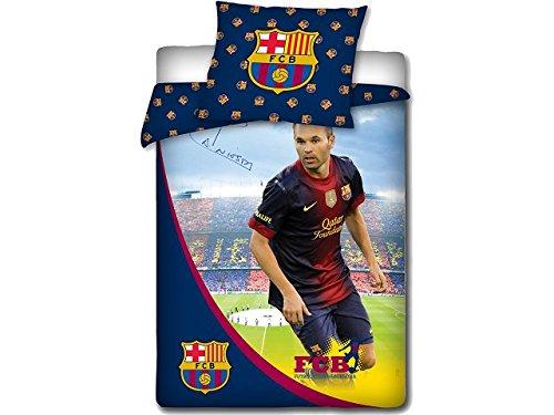 FC Barcelona Bettw/äsche Set 160x200 cm INIESTA