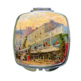 Restaurant De La Sirene At Asnieres By Vincent Van Gogh Compact Mirror