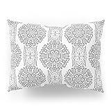 Society6 Gray White Damask Ornament . Pillow Sham Standard (20'' x 26'') Set of 2