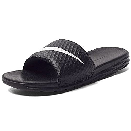 b38924e11315 NIKE Men s Benassi Solarsoft TB Black Rubber Mesh Sandals (6 UK)  Buy  Online at Low Prices in India - Amazon.in