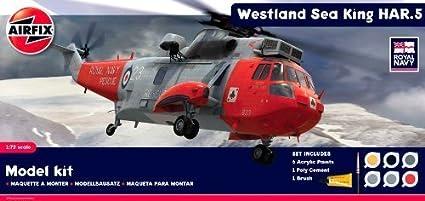 Amazon.com: Airfix A50113 Royal Navy Westland Sea King HAR.5 ...