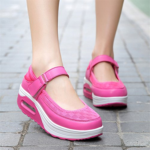 Loss Fitness Weight Wedge Running 1 Shoes Outdoor Sports Pink MOREMOO Rocking Summer Swing Female Shoes Shoes nzPq4If