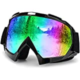 Ski Goggles,Caferria Anti-Fog with 100% UV Protection,Motorcycling Cycling Skiing Snowboard Goggles Protective Goggles for Men, Women & Youth