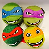 Teenage Mutant Ninja Turtles Head Plush Round Ball Doll Set of 4 Pcs Tmnt 5