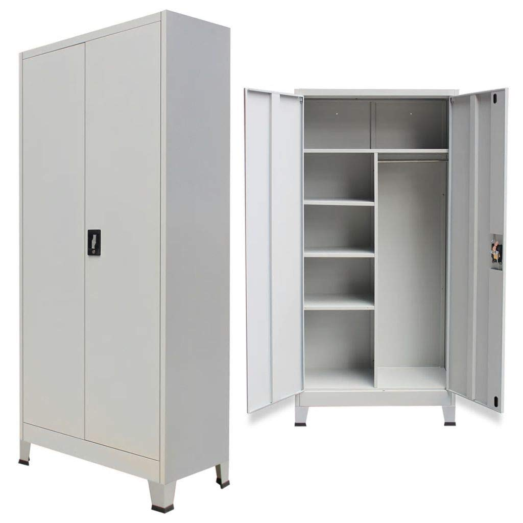 Unfade Memory Storage Locker Stainless Steel Cabinet with 2 Doors 35.4''x15.7''x 70.9'' by Unfade Memory