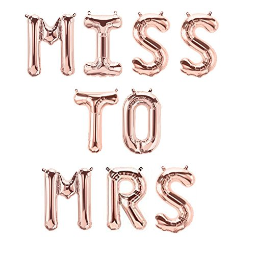 (Rose Gold MISS TO MRS Balloons Banner 16