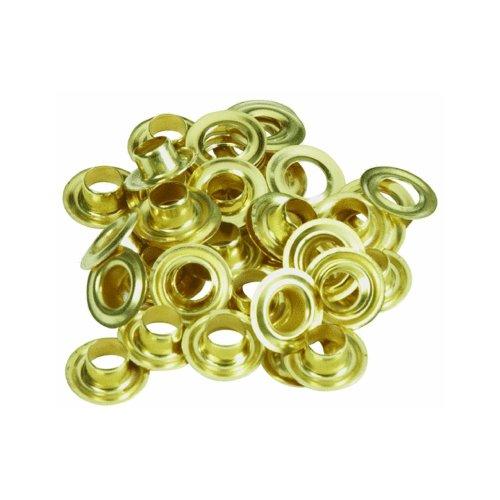 Lord & Hodge 1074-0 #0 Brass Grommet Refills 24 Count - Refill Grommet Kit