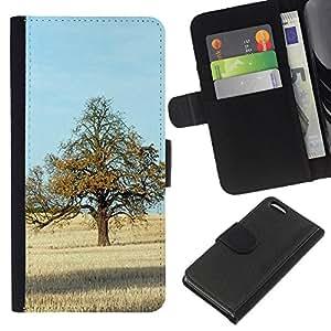 JackGot ( Natura Bella Forrest Verde 71 ) Apple iPhone 5C la tarjeta de Crédito Slots PU Funda de cuero Monedero caso cubierta de piel