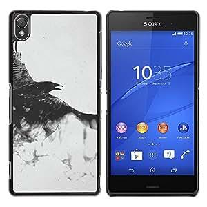 Volar Majestic Hawk - Metal de aluminio y de plástico duro Caja del teléfono - Negro - Sony Xperia Z3